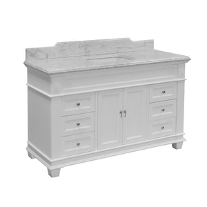 Elizabeth 60-inch Single Vanity (Carrara Marble)