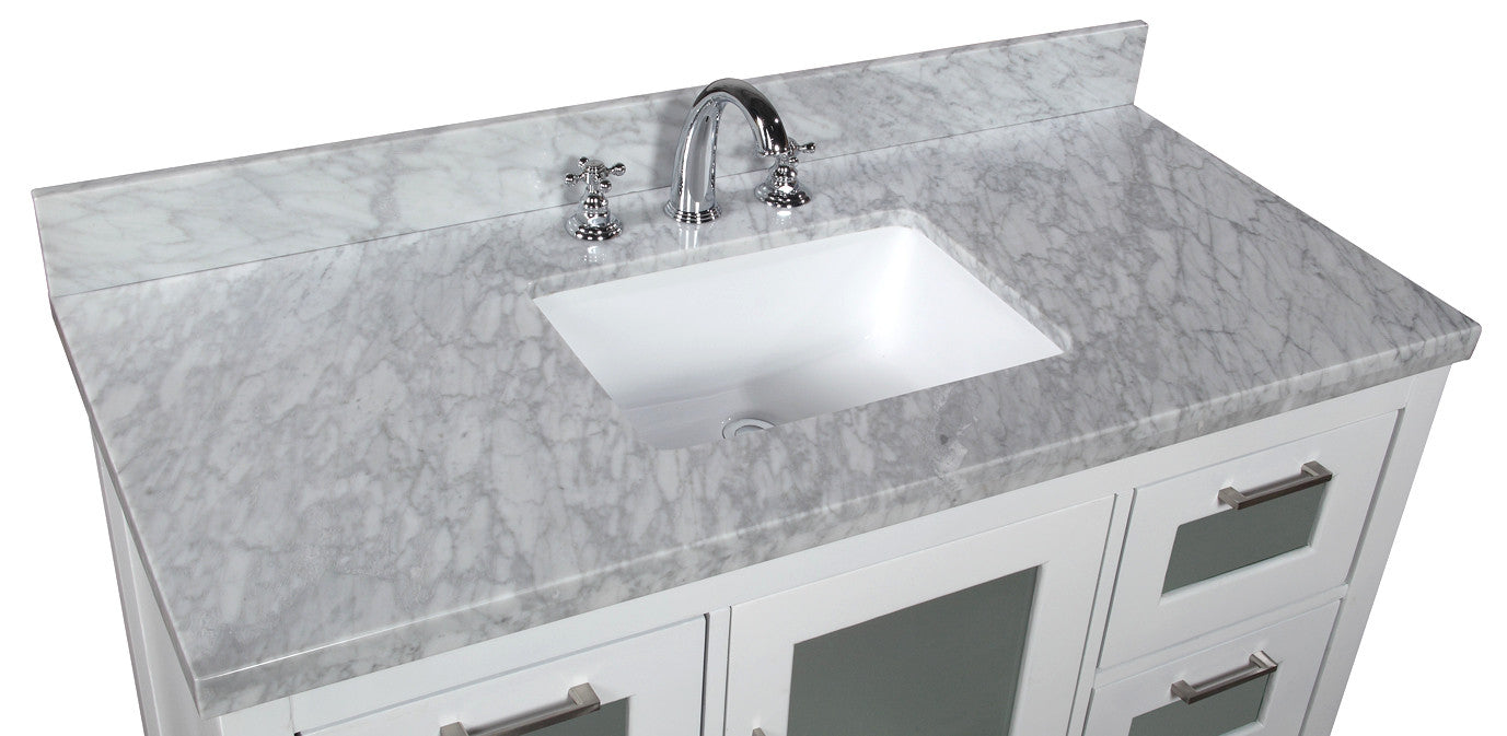 Manhattan 48-inch Vanity (Carrara/White)