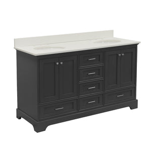 Harper 60-inch Double Vanity with Quartz Top