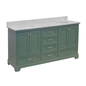 Harper 72-inch Double Vanity with Carrara Marble Top