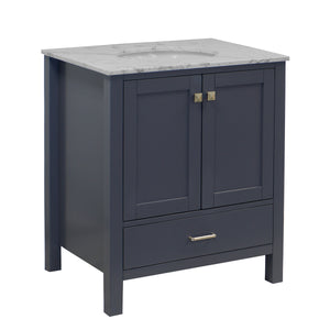 Horizon 30-inch Vanity with Carrara Marble Top