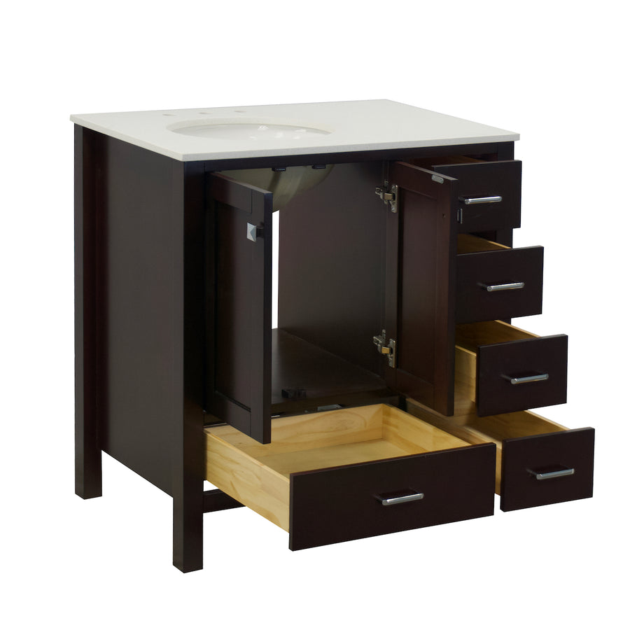 Horizon 36-inch Vanity with Quartz Top