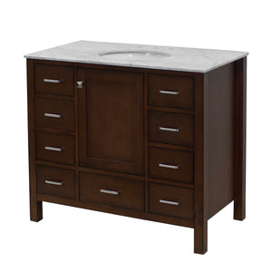 Horizon 42-inch Vanity with Carrara Marble Top