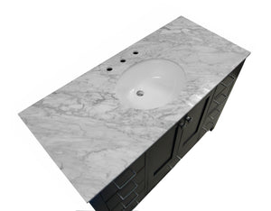 Horizon 48-inch Vanity with Carrara Marble Top