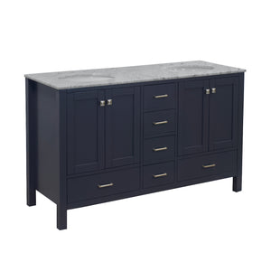 horizon 60 charcoal gray bathroom vanity carrara marble