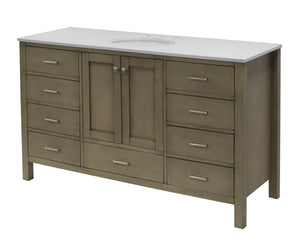 Horizon 60-inch Single Vanity with Quartz Top