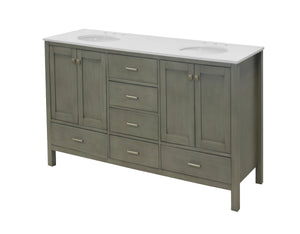 Horizon 72-inch Double Vanity with Quartz Top