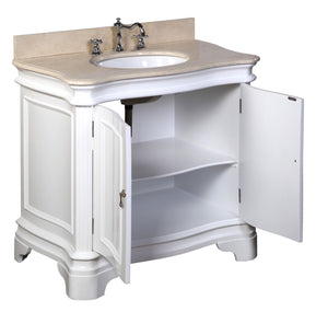 Katherine 36-inch Vanity with Crema Marfil Top