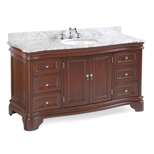 Katherine 60-inch Single Vanity (Carrara Marble)