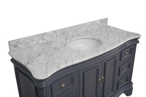 Katherine 60-inch Single Vanity with Carrara Marble Top