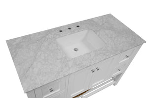 Lakeshore 48-inch Vanity with Carrara Marble Top