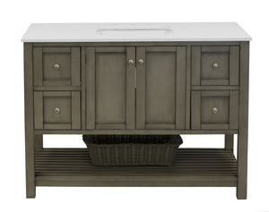 Lakeshore 48-inch Vanity with Quartz Top