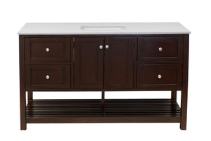 Lakeshore 60-inch Single Vanity with Quartz Top