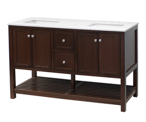 Lakeshore 60-inch Double Vanity with Quartz Top