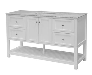 Lakeshore 60-inch Single Vanity with Carrara Marble Top