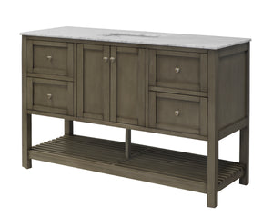 Lakeshore 60-inch Single Vanity (Carrara Marble)