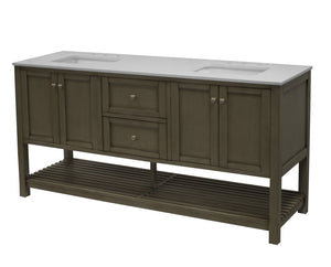 Lakeshore 72-inch Double Vanity (Quartz)