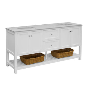 Lakeshore 72-inch Double Vanity with Quartz Top