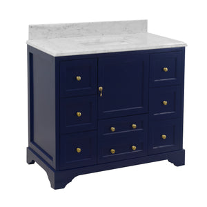 Madison 42-inch Vanity with Carrara Marble Top