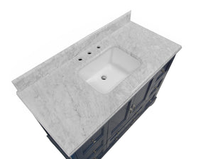 Madison 48-inch Vanity with Carrara Marble Top