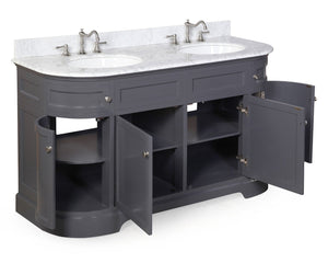 Montage 60-inch Double Vanity (Carrara Marble)