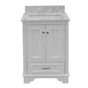 Nantucket 24-inch Vanity with Carrara Marble Top