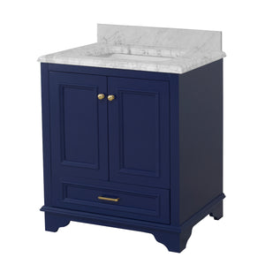 Nantucket 30-inch Vanity with Carrara Marble Top