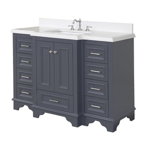 Nantucket 48-inch Vanity with Quartz Top