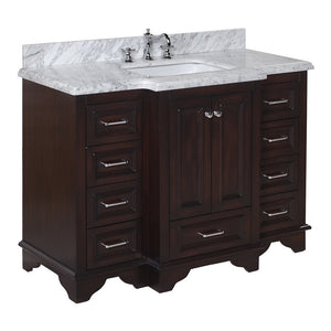 Nantucket 48-inch Vanity with Carrara Marble Top