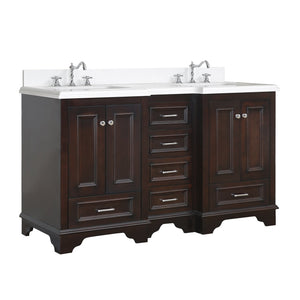 Nantucket 60-inch Double Vanity with Quartz Top