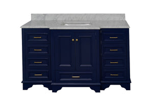 Nantucket 60-inch Single Vanity with Carrara Marble Top