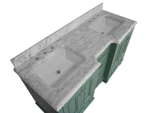 Nantucket 60-inch Double Vanity with Carrara Marble Top