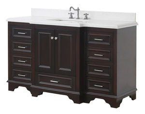 Nantucket 60-inch Single Vanity with Quartz Top