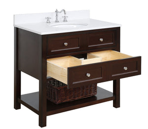New Yorker 36-inch Vanity with Quartz Top