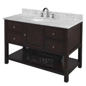 New Yorker 48-inch Vanity with Carrara Marble Top