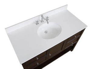 New Yorker 48-inch Vanity with Quartz Top