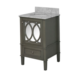 Olivia 24-inch Vanity with Carrara Marble Top