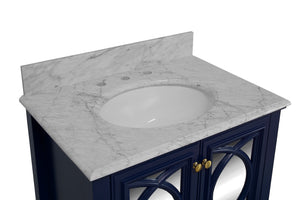 Olivia 30-inch Vanity with Carrara Marble Top