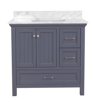Paige 36-inch Vanity with Carrara Marble Top