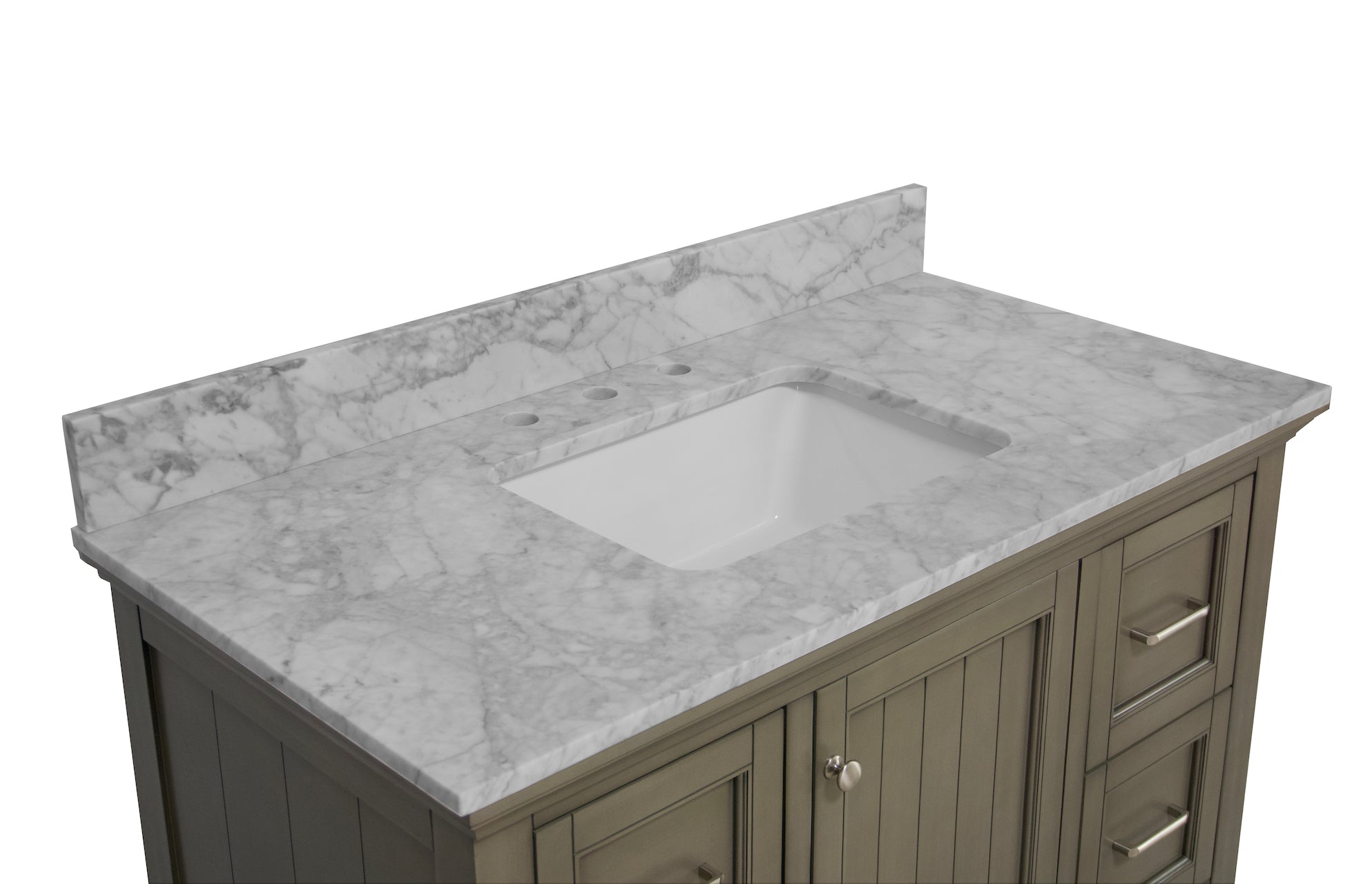 Paige 42 Bathroom Vanity With Carrara Marble Top Kitchenbathcollection