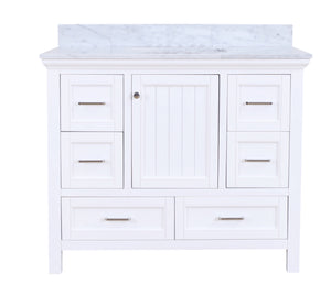 Paige 42-inch Vanity with Carrara Marble Top