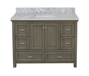 Paige 48-inch Vanity with Carrara Marble Top