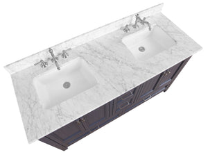 Paige 60-inch Double Vanity (Carrara Marble)