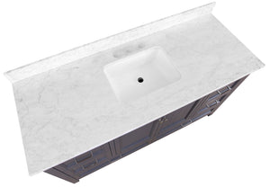 Paige 60-inch Single Vanity with Carrara Marble Top