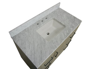 Peyton 42-inch Vanity with Carrara Marble Top