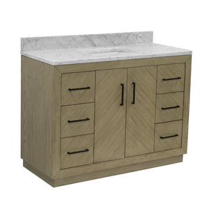 Peyton 48-inch Vanity with Carrara Marble Top