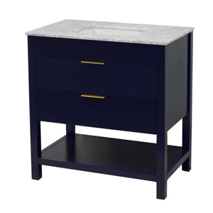 Harbor 36-inch Vanity with Carrara Marble Top