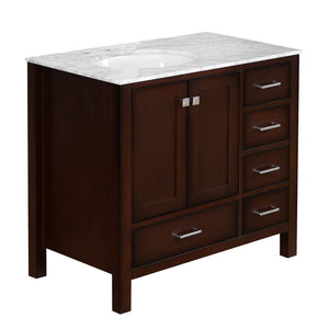 Horizon 36-inch Vanity with Carrara Marble Top