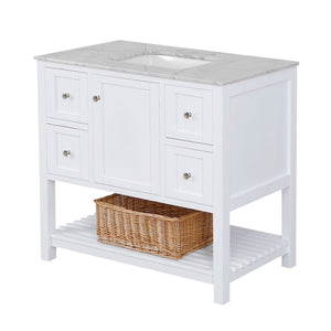Lakeshore 42-inch Vanity with Carrara Marble Top