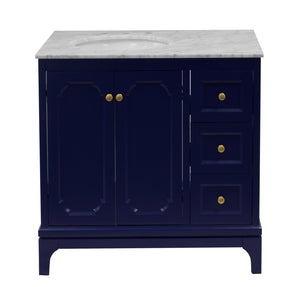 Starboard 36-inch Vanity with Carrara Marble Top
